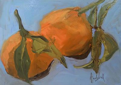 Painting - Clementines by Barbara Andolsek
