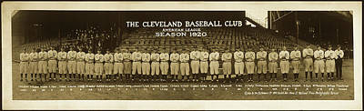 Photograph - Cleveland Baseball 1920 by F A Flowers