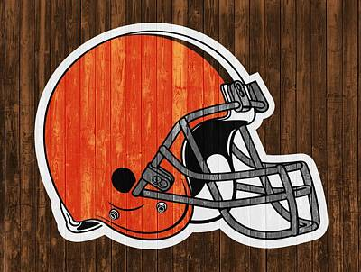 Football Royalty-Free and Rights-Managed Images - Cleveland Browns Barn Door by Dan Sproul