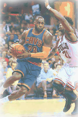 Cleveland Cavaliers Lebron James 2 Art Print by Joe Hamilton