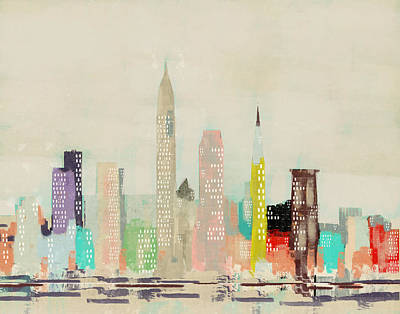 Painting - Cleveland City Skyline by Bri B