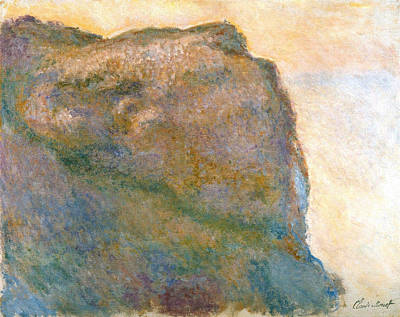 Seascape Painting - Cliff At Petit Ailly by Claude Monet
