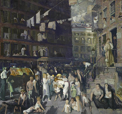 Lower East Side Painting - Cliff Dwellers by George Wesley Bellows