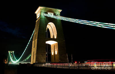 Photograph - Clifton Suspension Bridge, Bristol. by Colin Rayner