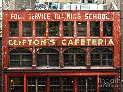 Photograph - Cliftons Cafeteria by Gregory Dyer