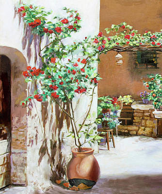 Painting - Climbing Roses by Dominique Amendola