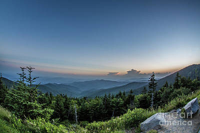 Photograph - Clingmans Dome Sunset I by Gene Berkenbile