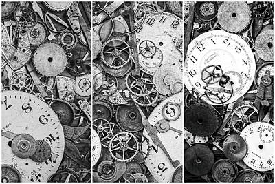 Triptych Photograph - Clockworks Still Life by Tom Mc Nemar