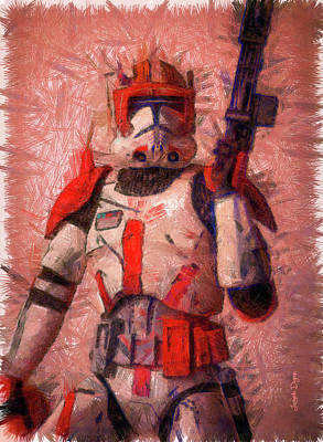 Magazine Painting - Clone Commander Cody - Pencil Style by Leonardo Digenio