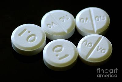 Clonidine 0.1 Mg Pills Art Print by Scimat