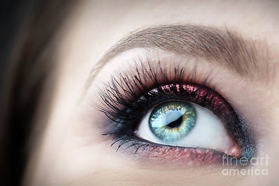 Photograph - Close-up Of Attractive, Healthy Eye With Glamour Makeup. by Michal Bednarek