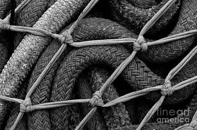 Photograph - Close-up Of Fishing Nets  by Jim Corwin