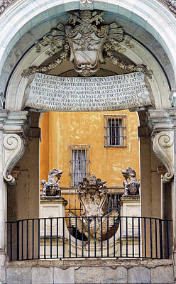 Photograph - Close Up View Of The Fontana Dell'acqua Paola In Rome Italy by Richard Rosenshein