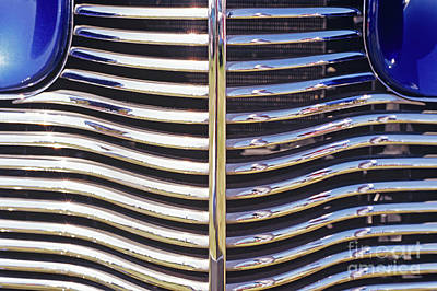 Photograph - Closeup Of Classic Car Grill  by Jim Corwin