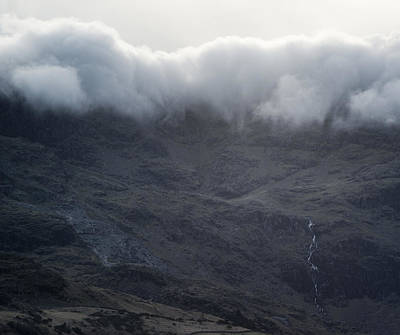 Cloud Inversion Landscape Old Man Of Coniston With Forest In For Art Print