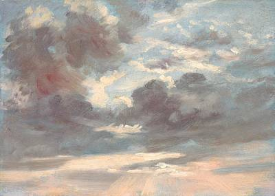 Nature Study Painting - Cloud Study - Stormy Sunset by Mountain Dreams