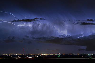 Cloud To Cloud Lightning Boulder County Colorado Art Print