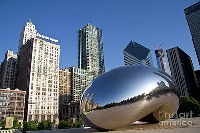 Photograph - Cloudgate Reflects by David Levin