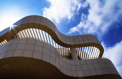 Clouds Rights Managed Images - Clouds and Curves at the Getty Museum  Royalty-Free Image by Dustin Woods