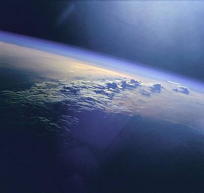 Fantasy Royalty-Free and Rights-Managed Images - Clouds and Sunglint over Indian Ocean by Celestial Images