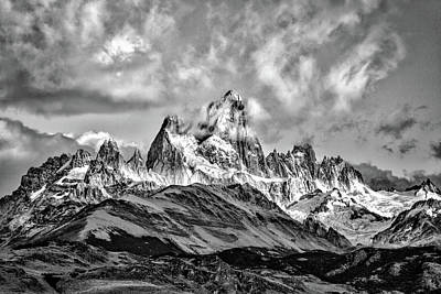 Photograph - Clouds Around Fitz Roy #3 - Patagonia by Stuart Litoff