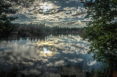 Photograph - Clouds Over The Pond by Jane Luxton