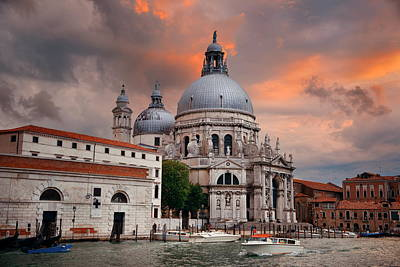 Photograph - Cloudscape And Church Santa Maria Della Salute by Songquan Deng