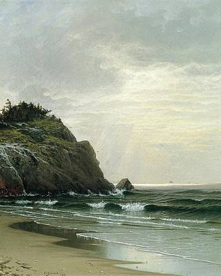 Cloudy Day Painting - Cloudy Day by Alfred Thompson Bricher
