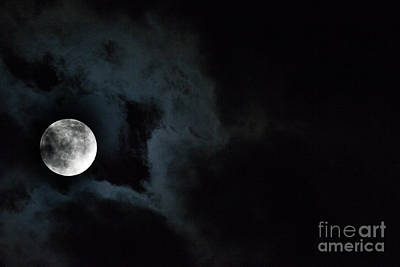 Photograph - Cloudy Moon by Dale Powell