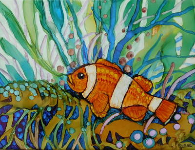Fish On A Reef Painting - Clown Fish by Joan Clear