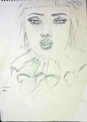Basic Mixed Media - Clown Girl by Teresa Omerta Moll-Arruza