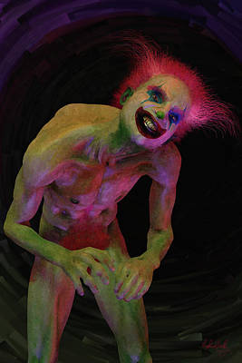 Digital Art - Clown by Matt Lindley