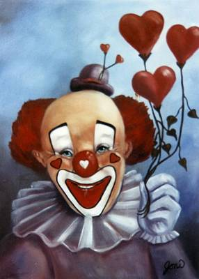 Painting - Clown Of Hearts by Joni McPherson