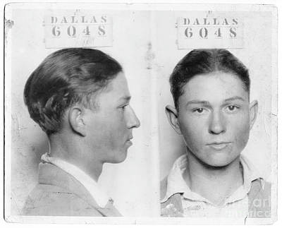Bonnie And Clyde Photograph - Clyde Barrow Mugshot by Jon Neidert