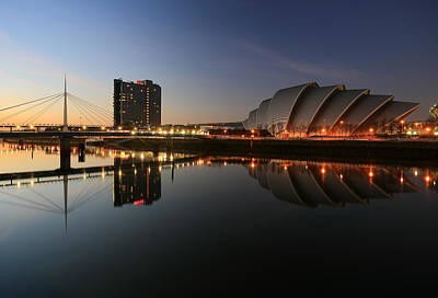 Peacock Feathers - Clydeside Reflections  by Grant Glendinning