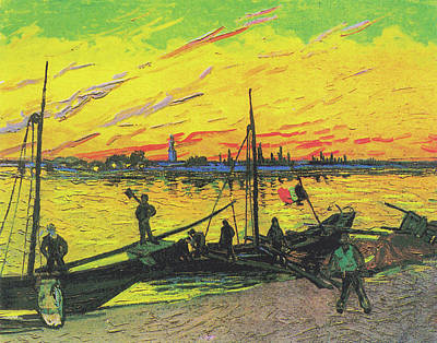 Painting - Coal Barges by Vincent van Gogh
