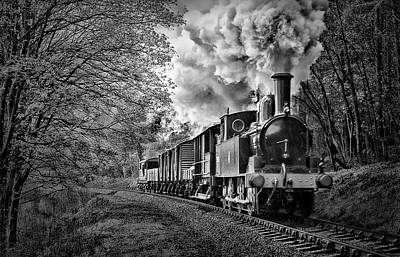Photograph - Coal Tank Engine In The Rain by Andrew Munro
