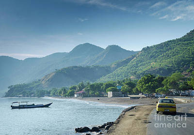 Giuseppe Cristiano Royalty Free Images - Coast Beach And Boat Near Dili In East Timor Leste Royalty-Free Image by JM Travel Photography