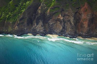 Coastal Kauai Aerial Art Print