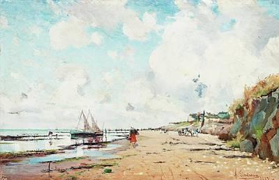 Coastal Scene From Villerville Art Print
