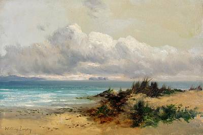 Sand Dunes Painting - Coastal Scene With Sand Dune by MotionAge Designs