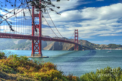 Photograph - Coastal Trail Golden Gate Bridge by David Zanzinger