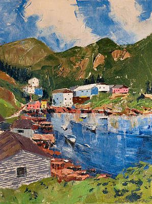 Painting - Coastal Village, Newfoundland by David Gilmore