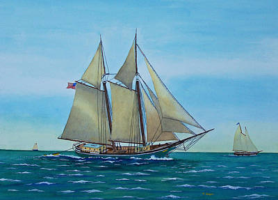 Painting - Coasting Schooner Australia by Norman Freyer