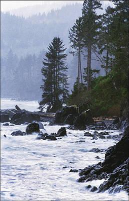 Stormy Coastline Vancouver Island  Original by Kim Lessel
