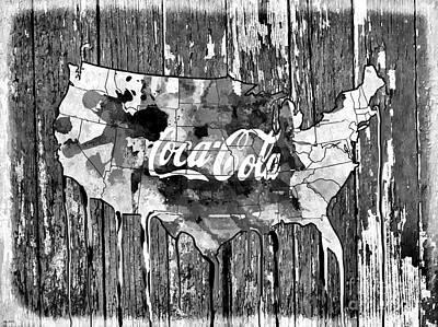 Coca-cola Signs Mixed Media - Coca Cola America  by Daniel Janda