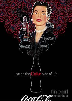 Coca Drawing - Coca Cola by Coke