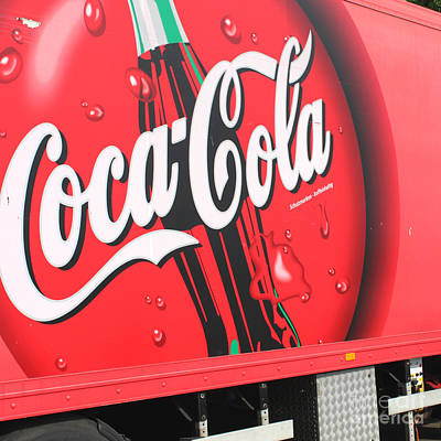 Coca Cola Truck Art Print by Barbara Marcus