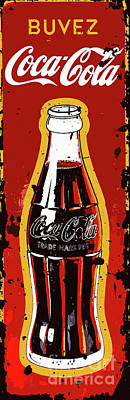 Painting - Coca Cola Vintage Sign by Saundra Myles