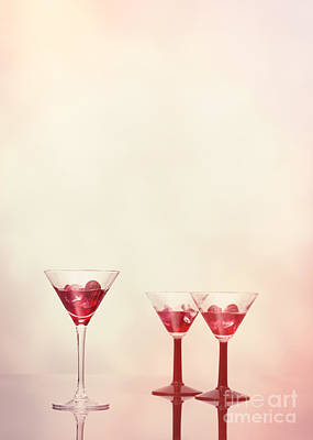 Glass Art Photograph - Cocktails At The Bar by Amanda Elwell